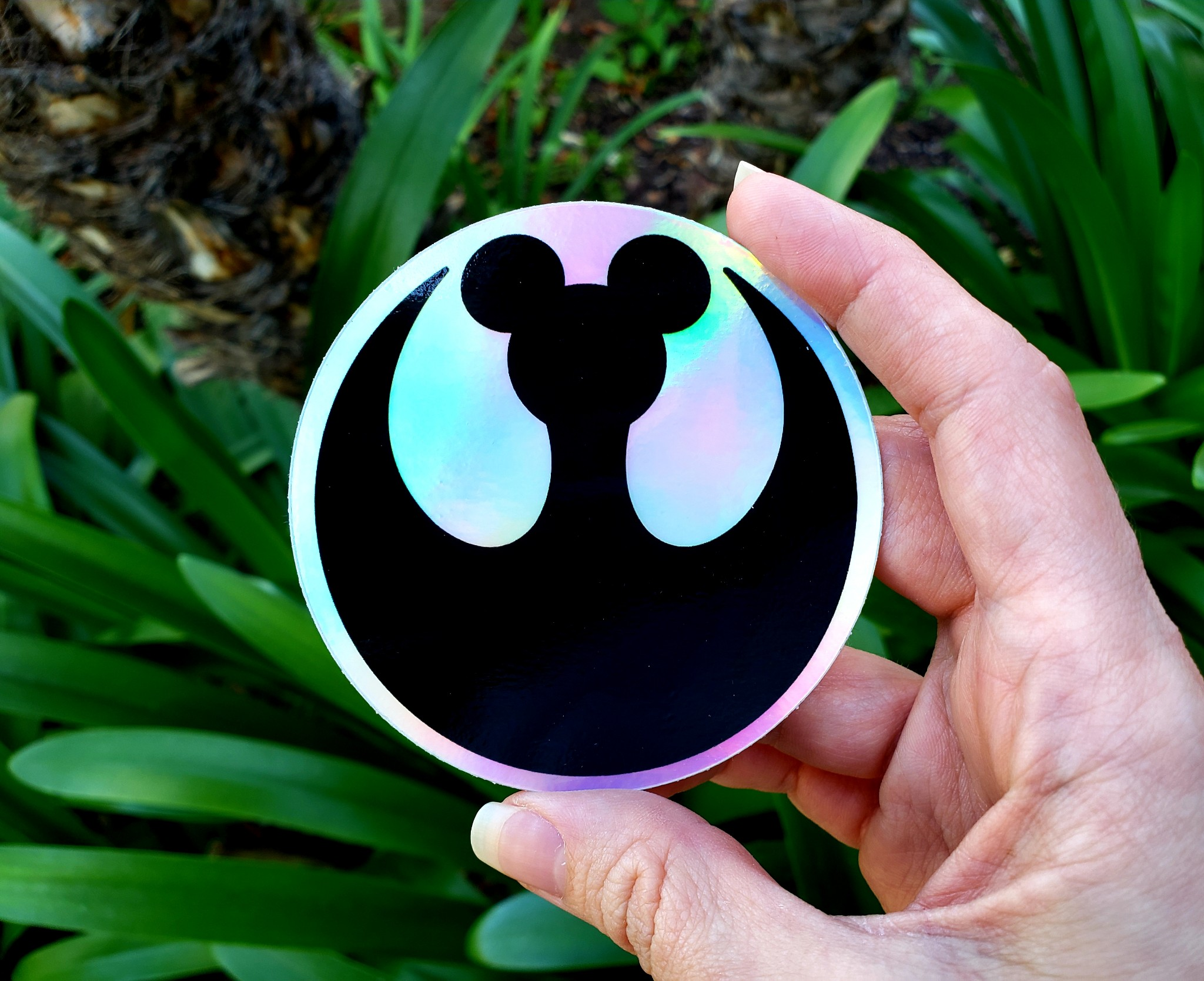 Rebel Mouse Holographic Sticker | Anakin and His Angel