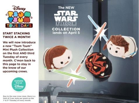 Star Wars The Phantom Menace Tsum Tsum Official Release Date | Anakin And His Angel