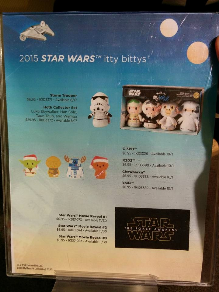 Star Wars Christmas & The Force Awakens Itty Bittys