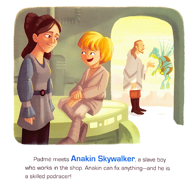 Star Wars Little Golden Books Anakin & Padme TPM Scans | Anakin And His Angel